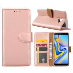 Samsung Galaxy J6 Plus (2018) Hoesje Rose met Pasjeshouder