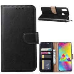 Samsung Galaxy M20 Hoesje Zwart met Pasjeshouder