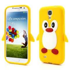 Samsung Galaxy S4 i9500 Penguin Silicone Case Geel
