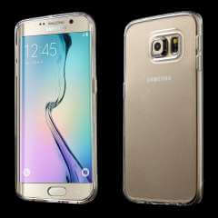Samsung Galaxy S6 Edge TPU Hoesje Transparant + Screenprotector