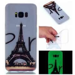 Samsung Galaxy S8 Plus Hoesje Eiffeltoren, Lichtgevend!