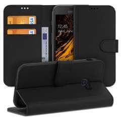 Samsung Galaxy Xcover 4s | 4 Hoesje Zwart met Pasjeshouder