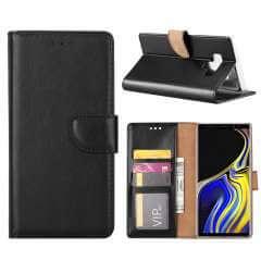 Samsung Note 9 Hoesje Zwart met Pasjeshouder