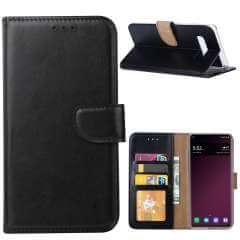 Samsung S10 Plus Hoesje Zwart met Pasjeshouder