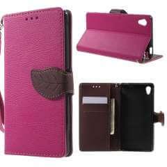 Sony Xperia M4 Aqua Leuk Hoesje Roze met Opbergvakjes