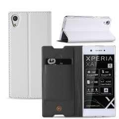 Sony Xperia XA1 Hoesje Wit met Standaardfunctie