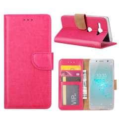 Sony Xperia XZ2 Compact Hoesje Roze met Pasjeshouder