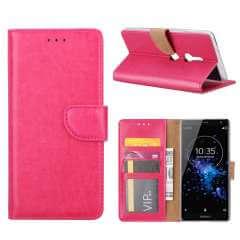 Sony Xperia XZ2 Hoesje Roze met Pasjeshouder