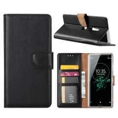 Sony Xperia XZ3 Hoesje Zwart met Pasjeshouder