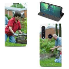 Standcase Hoesje Motorola G8 Plus met eigen foto