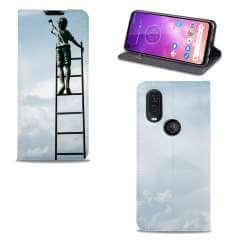 Standcase Hoesje Motorola One Vision met eigen foto