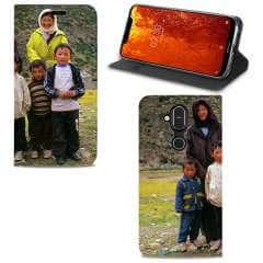 Standcase Hoesje Nokia 8.1 met eigen foto