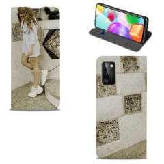 Standcase Hoesje Samsung Galaxy A41 met eigen foto
