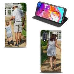 Standcase Hoesje Samsung Galaxy A70 met eigen foto