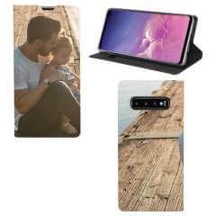 Standcase Hoesje Samsung Galaxy S10 met eigen foto
