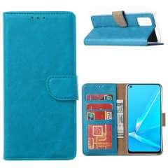 Walletcase Hoesje OPPO A52 | A72 Turquoise met Pasjeshouder