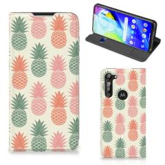 Motorola Moto G8 Power Flip Style Cover Ananas