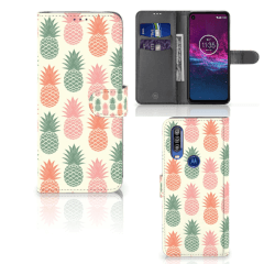 Motorola One Action Book Cover Ananas