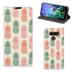 LG Q60 Flip Style Cover Ananas