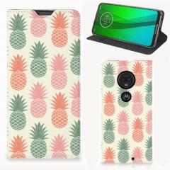 Motorola Moto G7   G7 Plus Flip Style Cover Ananas