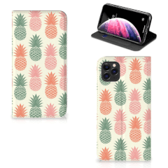 Apple iPhone 11 Pro Max Flip Style Cover Ananas