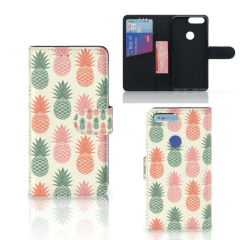OnePlus 5T Book Cover Ananas