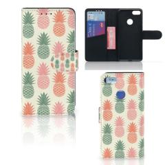 Motorola Moto E6 Play Book Cover Ananas