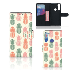 Motorola Moto G8 Book Cover Ananas