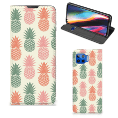 Motorola Moto G 5G Plus Flip Style Cover Ananas