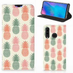 Huawei P30 Lite New Edition Flip Style Cover Ananas