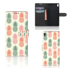 Sony Xperia XA Ultra Book Cover Ananas