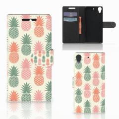 HTC Desire 628 Book Cover Ananas