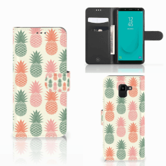 Samsung Galaxy J6 2018 Book Cover Ananas