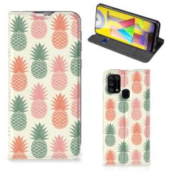 Samsung Galaxy M31 Flip Style Cover Ananas