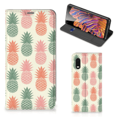 Samsung Xcover Pro Flip Style Cover Ananas