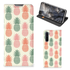 OnePlus Nord Flip Style Cover Ananas