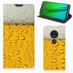 Motorola Moto G7   G7 Plus Flip Style Cover Bier