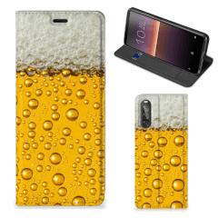 Sony Xperia 10 II Flip Style Cover Bier