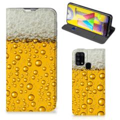 Samsung Galaxy M31 Flip Style Cover Bier