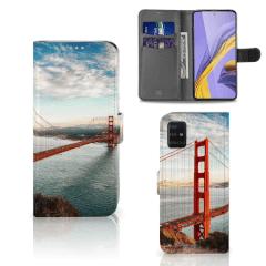 Samsung Galaxy A51 Flip Cover Golden Gate Bridge