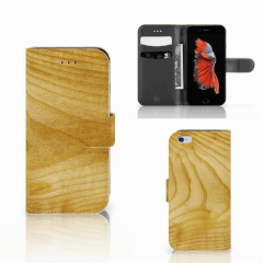 Apple iPhone 6 | 6s Book Style Case Licht Hout