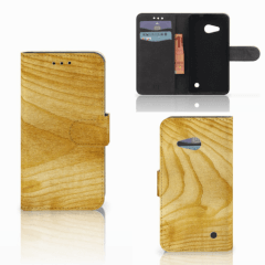 Microsoft Lumia 550 Book Style Case Licht Hout