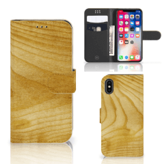 Apple iPhone X | Xs Book Style Case Licht Hout