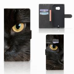 HTC U Ultra Telefoonhoesje met Pasjes Zwarte Kat