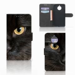Motorola Moto E4 Plus Telefoonhoesje met Pasjes Zwarte Kat
