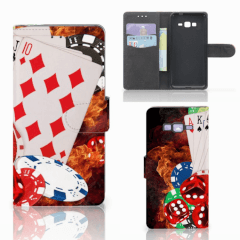 Samsung Galaxy Grand Prime | Grand Prime VE G531F Wallet Case met Pasjes Casino