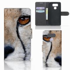 LG G6 Telefoonhoesje met Pasjes Cheetah