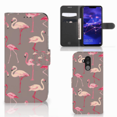 Huawei Mate 20 Lite Telefoonhoesje met Pasjes Flamingo