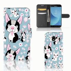 Samsung Galaxy J3 2017 Telefoonhoesje met Pasjes Hondjes