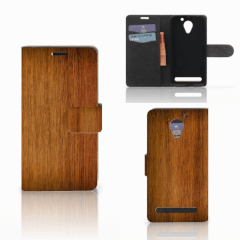 Lenovo C2 Power Book Style Case Donker Hout